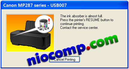 How to fix Canon error MP287 E08: