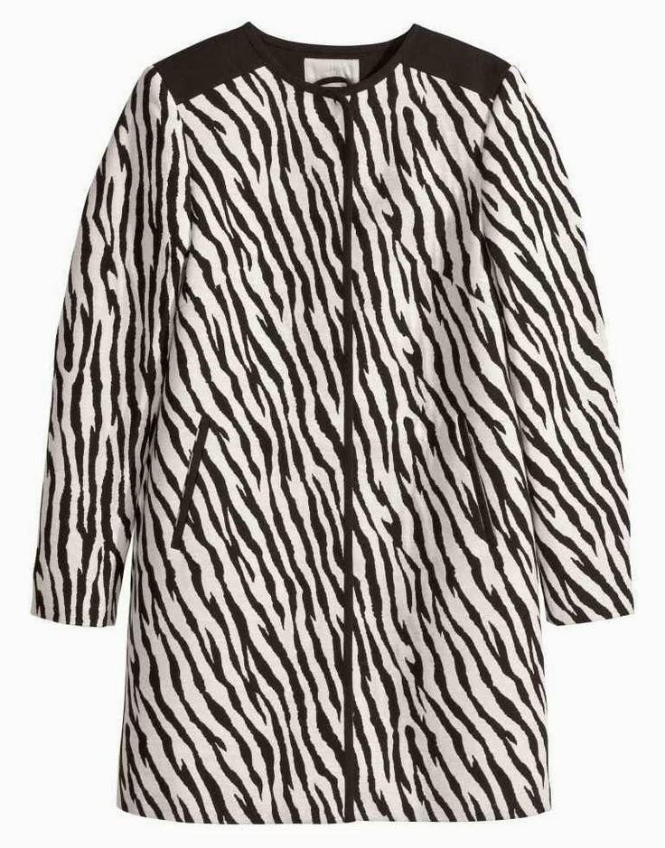 H&M Zebra Coat