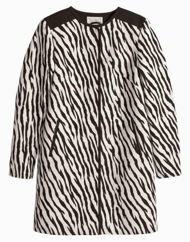 H&M Zebra Coat