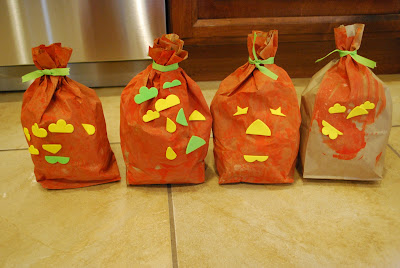 how to make paper bag jack-o-lanterns