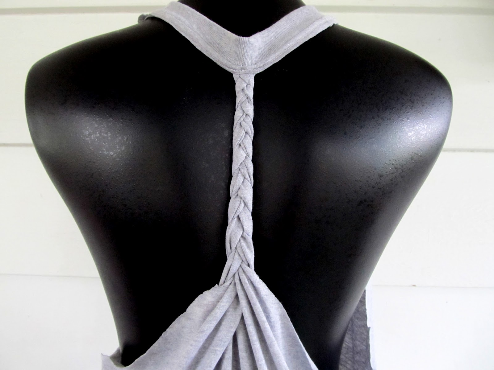 wobisobi racer back tee diy 2 braided back - T Shirt Cutting Designs Ideas