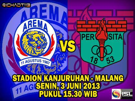 Arema Indonesia vs Persita ISL 2013