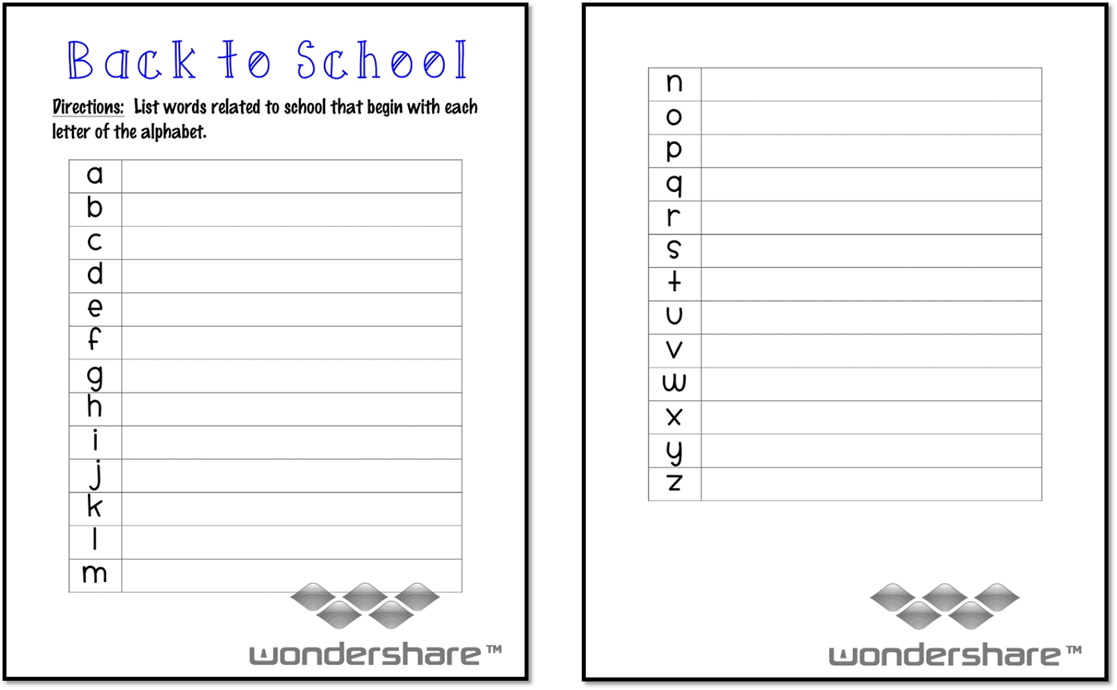 School Worksheets For 3rd Grade : Ms third grade back to school freebie