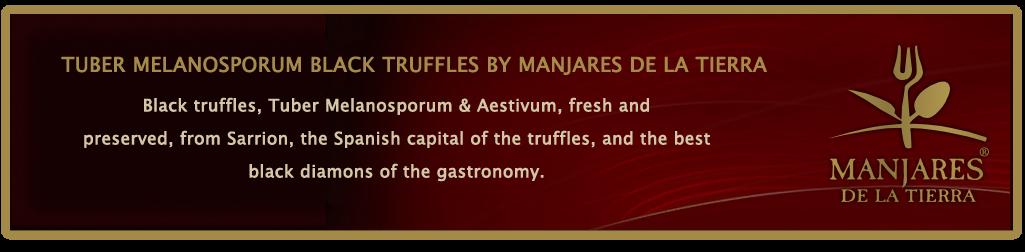 TUBER MELANOSPORUM BLACK TRUFFLES BY MANJARES DE LA TIERRA. (TRUFFES, TRÜFFLES, TRUFAS, TARTUFI)