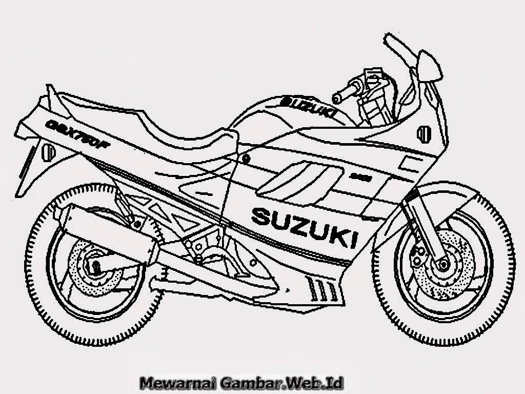 Mewarnai Gambar Motor Mewarnai Gambar