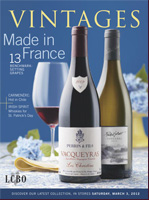 Cover of March 3, 2012 LCBO Vintages magazine.