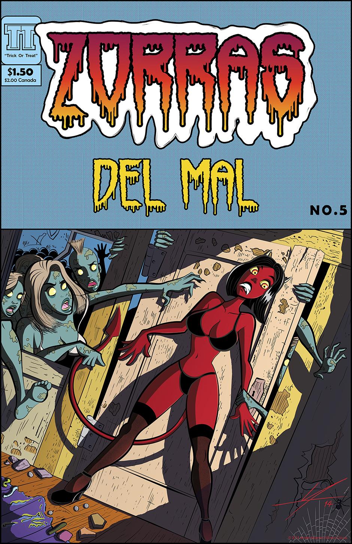 Zorras del Mal Halloween Pinup by IAMO