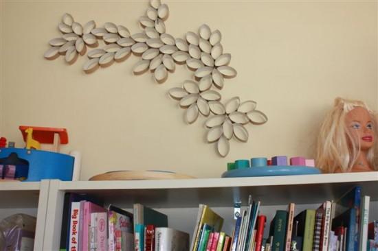 Arte com rolos de papel higiênico reciclados