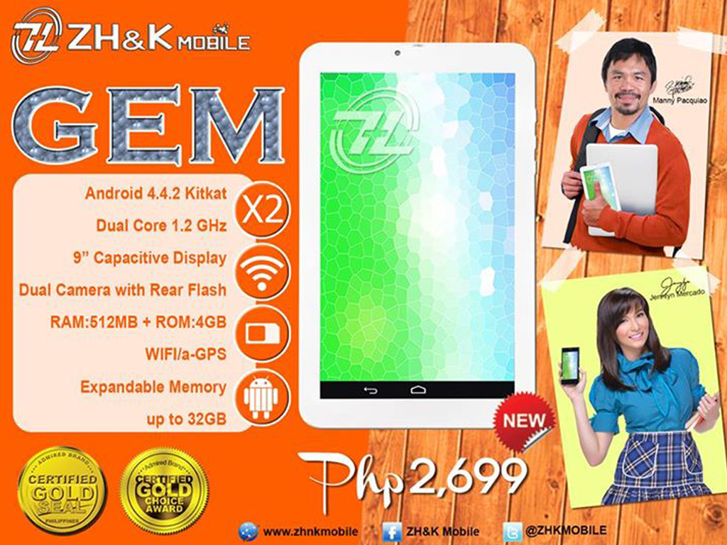 ZH&K Mobile Gem: 9-inch Tablet Priced At Php 2,699
