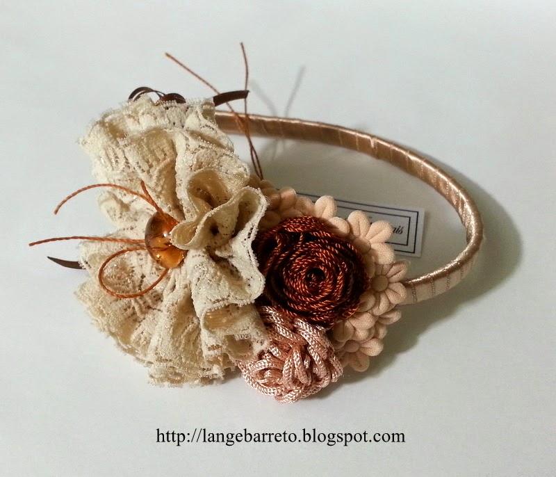 Tiara flor de passamanaria