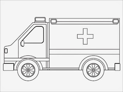 printable coloring pages of ambulance