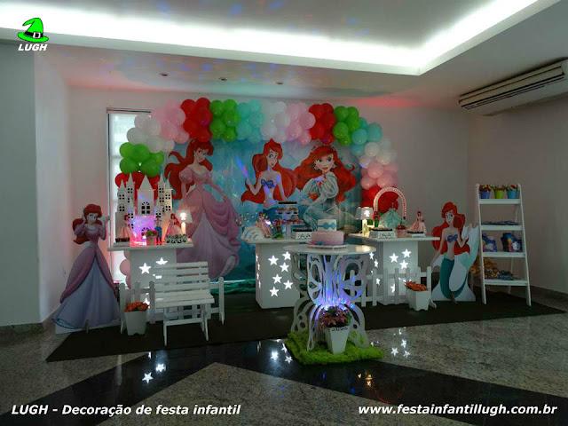 Tema Ariel para decoração de festa de aniversário infantil de meninas - Barra da Tijuca RJ