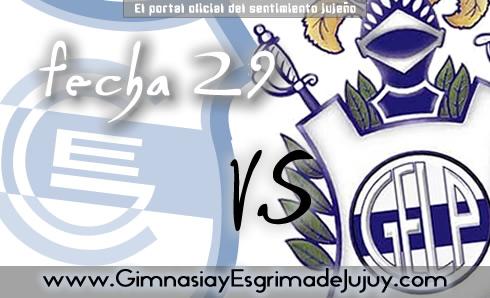 Fecha 29: Gimnasia de Jujuy vs Gimnasia de la Plata
