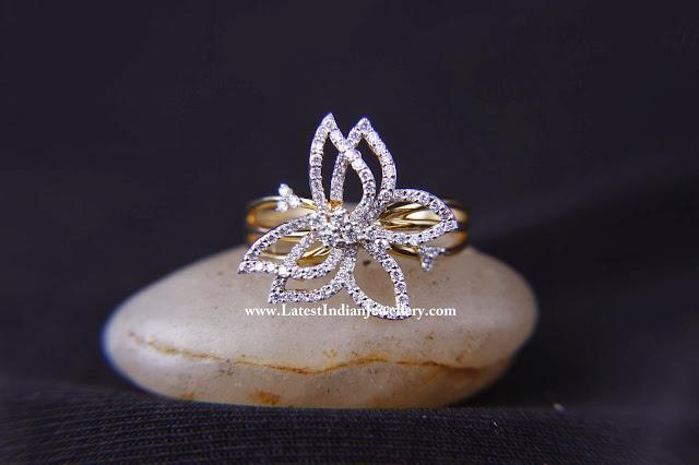 Butterfly Design Diamond Ring