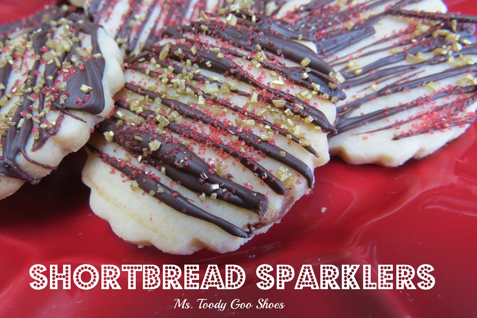 "Shortbread ""Sparkler"" Cookies --- by Ms. Toody Goo Shoes"
