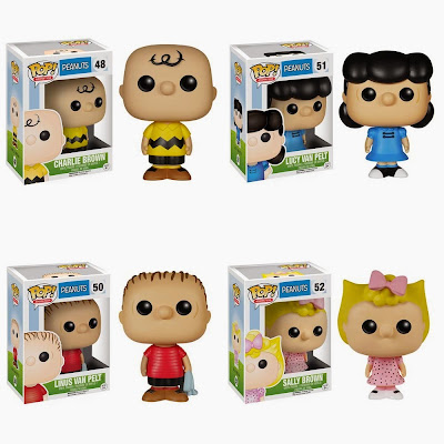 Peanuts Pop! Animation Series Vinyl Figures by Funko - Charlie Brown, Lucy Van Pelt, Linus Van Pelt & Sally Brown