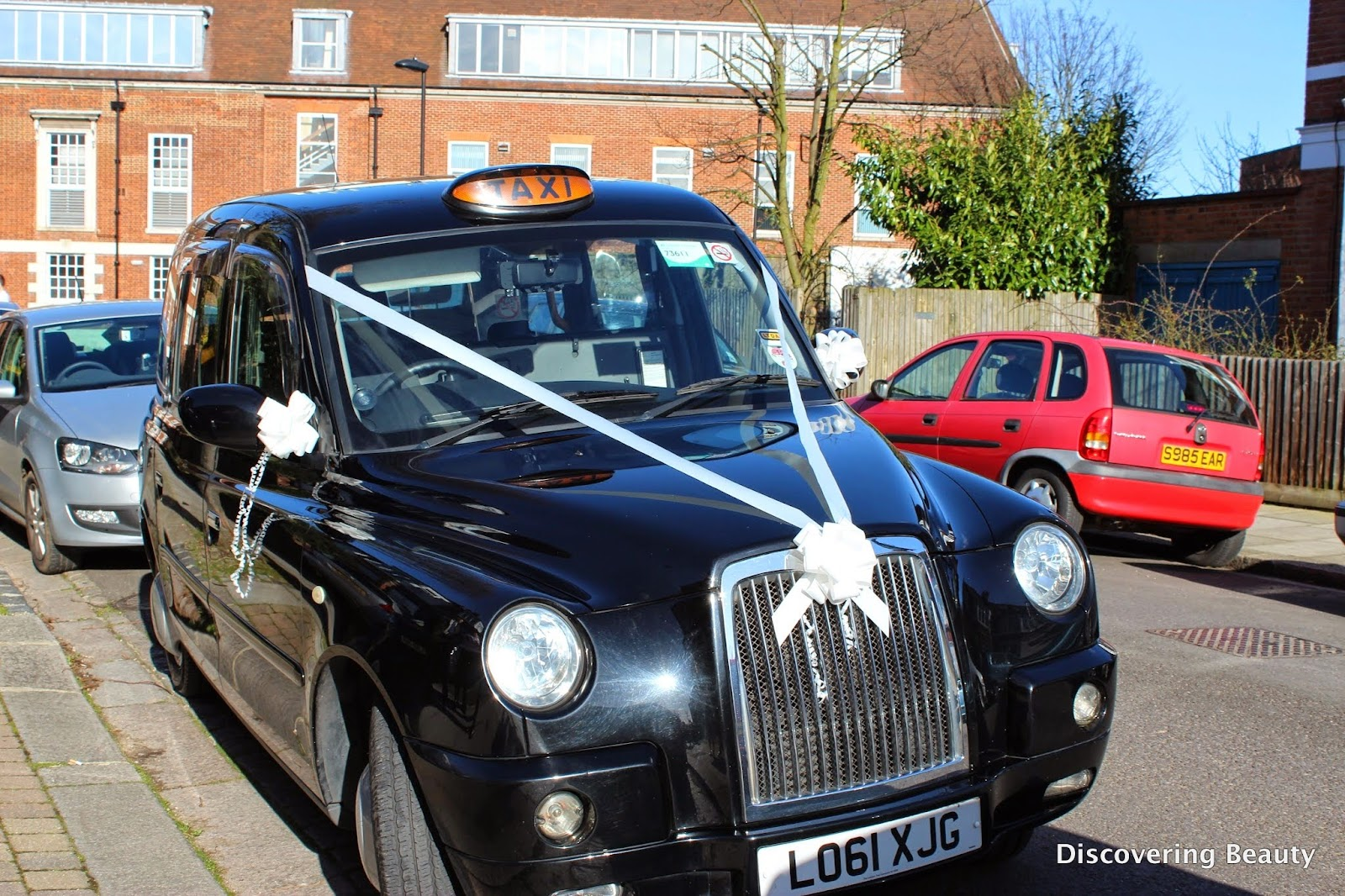 london black taxi wedding