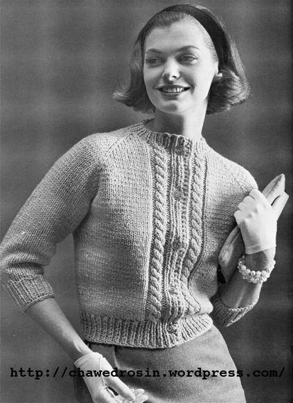 The Vintage Pattern Files 1960s Knitting Raglan Cardigan