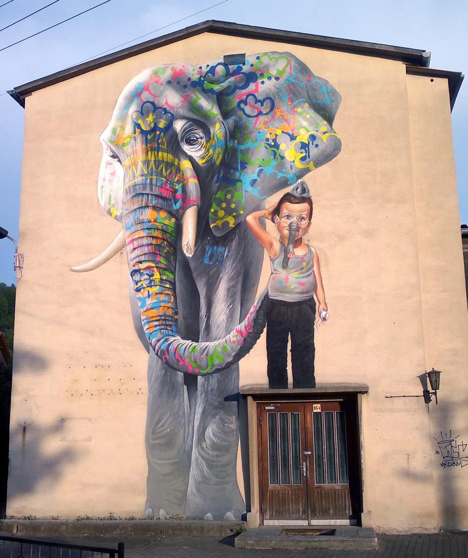 Case new mural in schmalkalden germany streetartnews for Mural street art