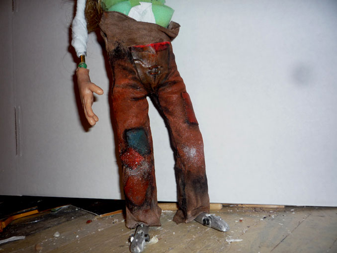 Stop Motion Puppet trousers by Jeff Lafferty