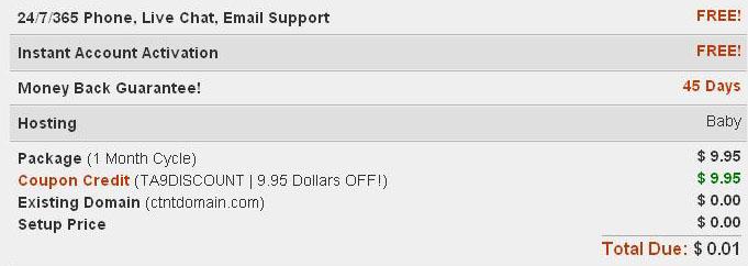 Hostgator maximum discount coupon