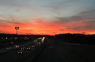 Gorgeous sunset over Nashville, TN