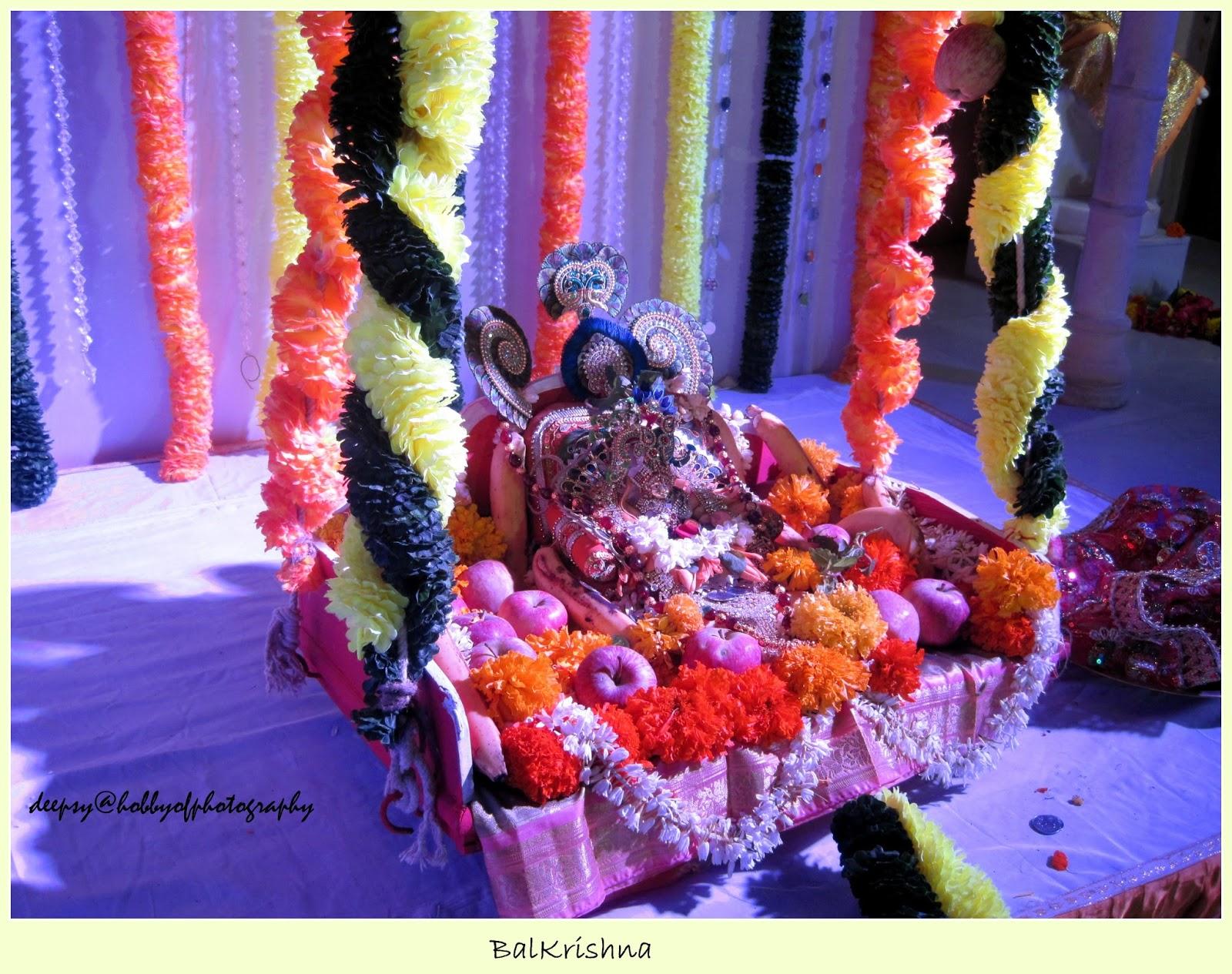 I Went To Mandir Near My House Decoration Of Temple Was Very Nice Baghwan Shri Krishna In Zhoola