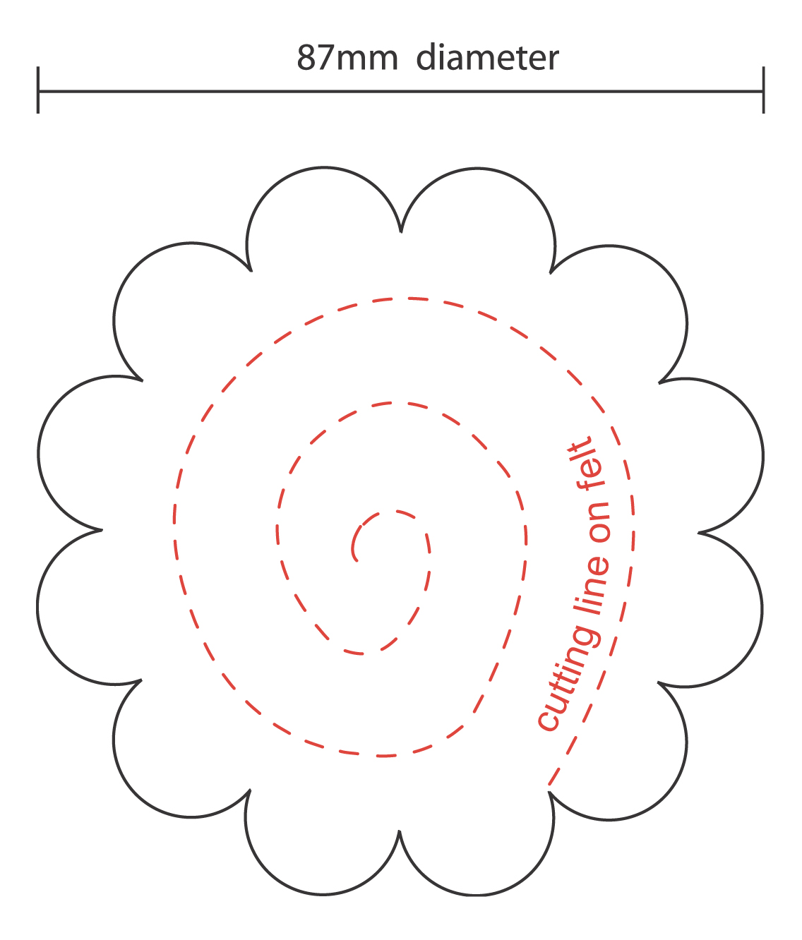 It is a photo of Slobbery Felt Flower Template Printable