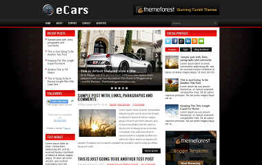 eCars Blogger Template