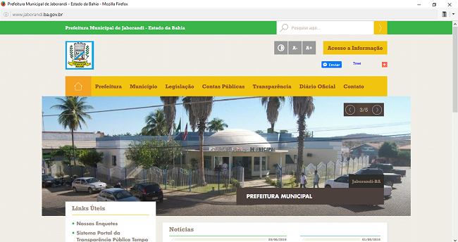 Site Oficial - www.jaborandi.ba.gov.br