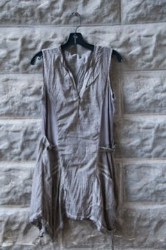 French dyed zipper tunic