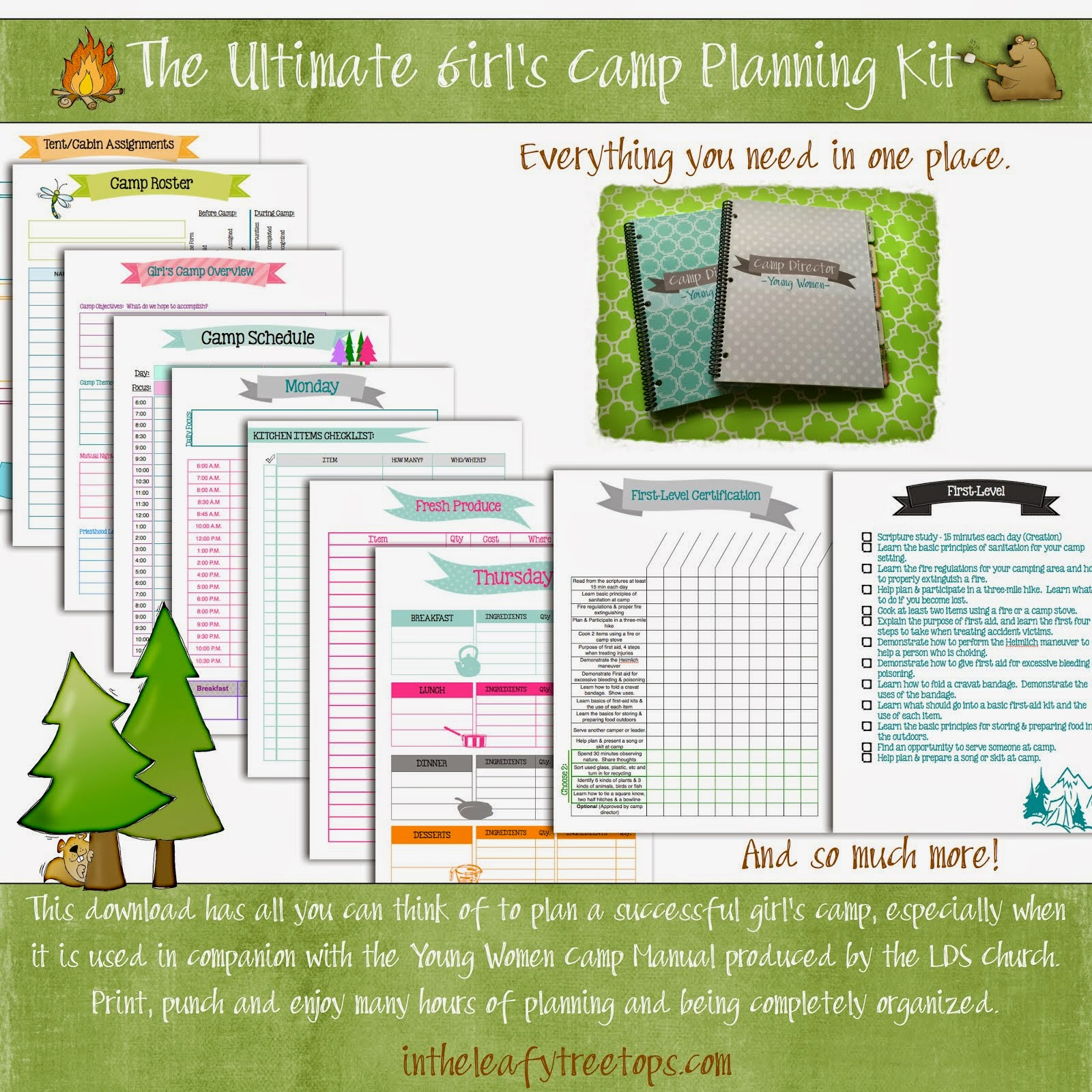 Girl's Camp Planning Kit