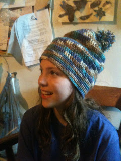 Slouchy beanie hat by Evil Genius Crafts