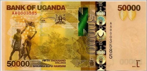 Uganda 50.000 Shillings