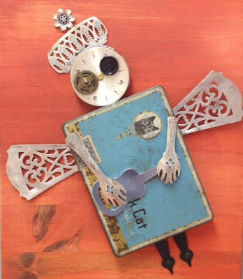Assemblage, Canadian artist, Kelly Bennet, Art Emporium, Angel