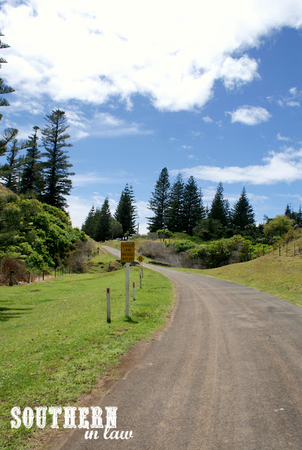 Walking to Cascade Pier Norfolk Island