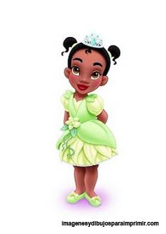princesa tiana bebe para imprimir princesas disney bebes para imprimir