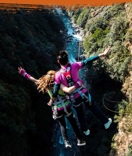 tandem swing, bungee jumping, bungy jumping in nepal, the last resort