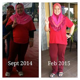 Sebelum gemuk, selepas kurus