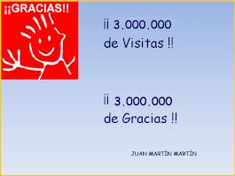 3.000.000 de visitas
