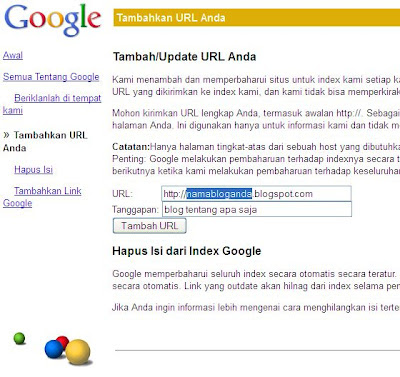 add url google