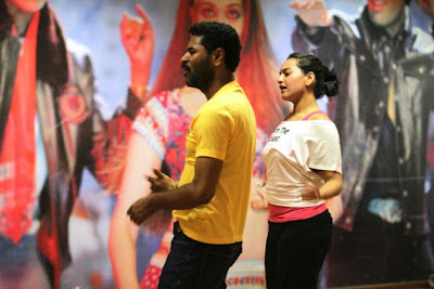 Sonakhsi Sinha with Prabhudeva in Item Song