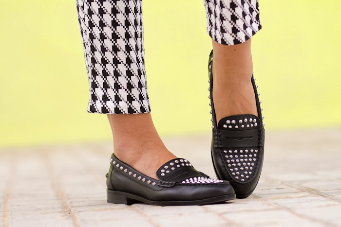 Zara Studded Loafers