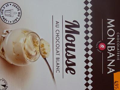 Monbana, préparation dessert, dessert rapide, dessert, chocolat blanc, mousse au chocolat, verrine.