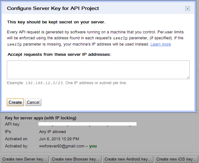 how to get gcm api key