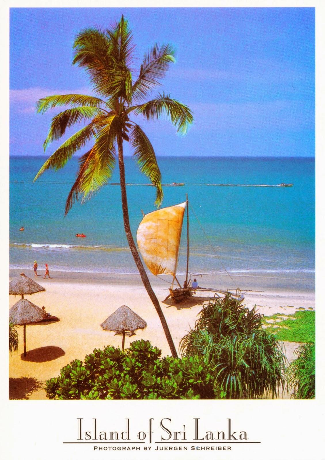 island, beach, sri lanka, ocean, postcard