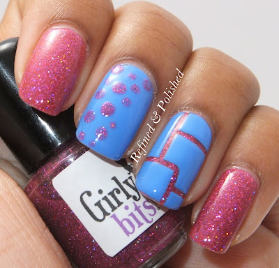nail art tape mani striping dots