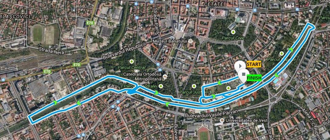 Timotion - Timişoara se mişcă pe 25 Aprilie pentru anumite cauze sociale. Alergare Parcul Rozelor Timişoara. Traseu