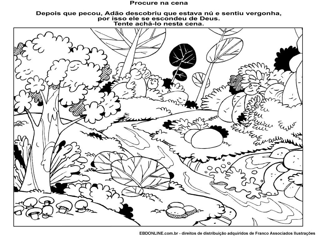 O pecado estragou tudo blog da tia al for Adan y eva en el jardin del eden para colorear