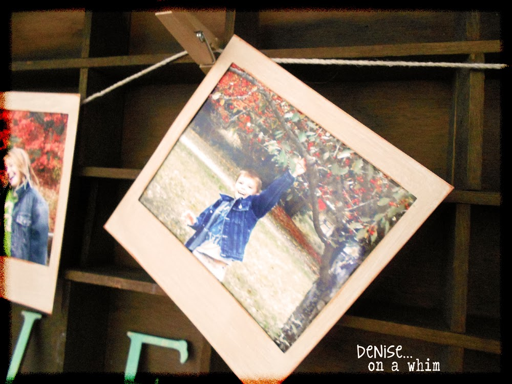 Chipboard Polaroid Frames, Painted, to Create a Vintage Look via http://deniseonawhim.blogspot.com